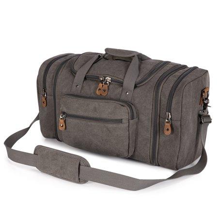 49791fe7ac0c Plambag Unisex s Canvas Duffel Bag Oversized Travel Tote Luggage Bag -  Walmart.com