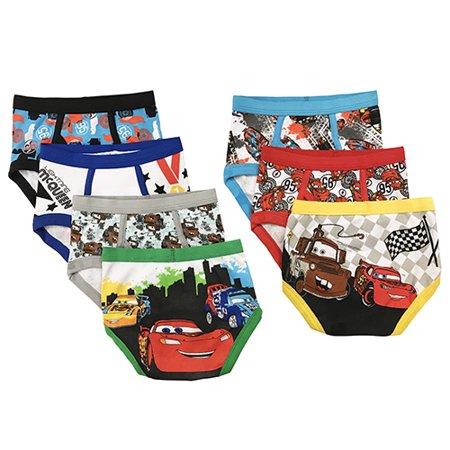 Cars Brief Underwear, 7-Pack (Toddler Boys) (Low Rise Boy Brief)