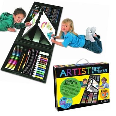 ART 101 Artist Supply Activity set  203 pieces BJ8 (Art 101 142 Piece Wood Art Set)