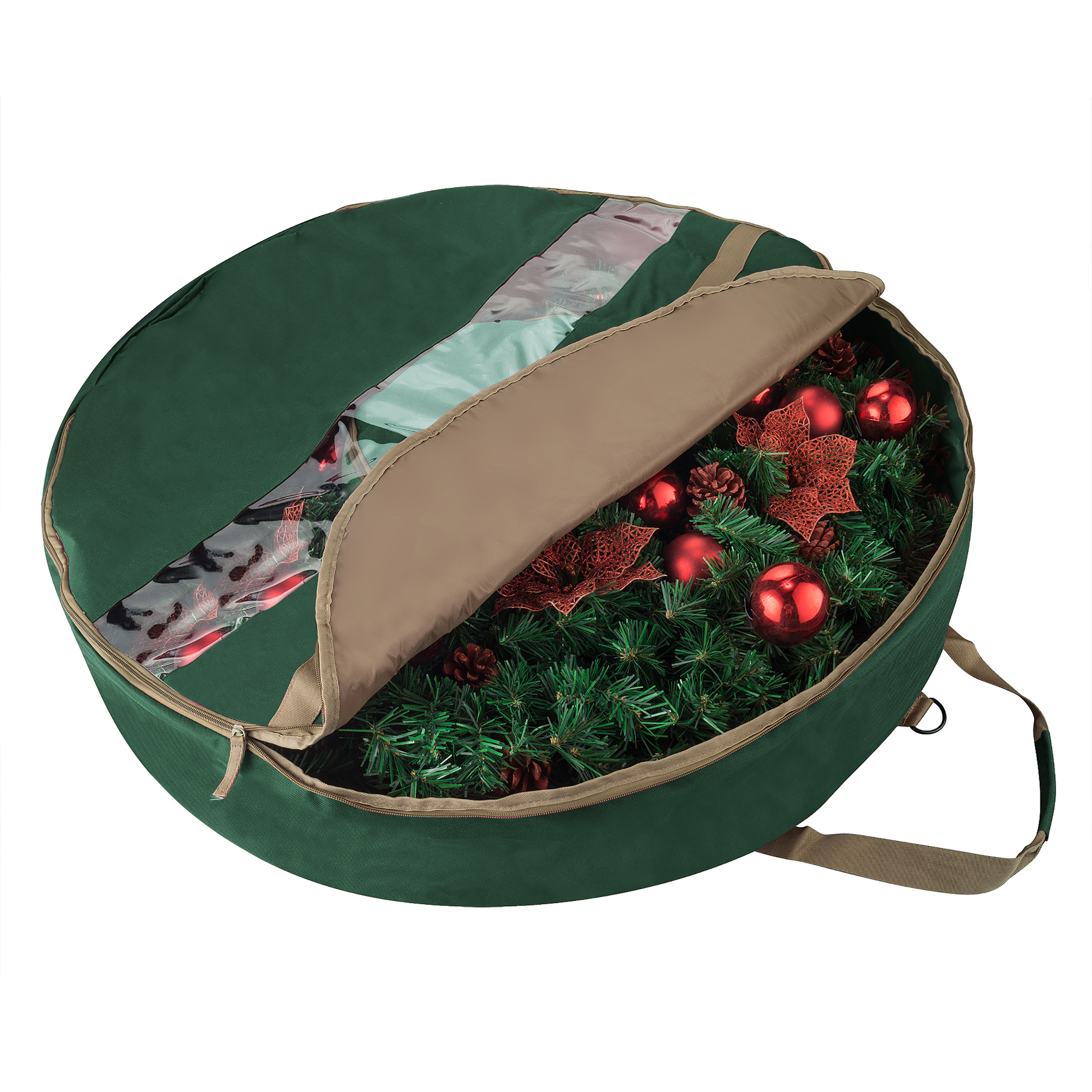 "1553 Elf Stor Ultimate Green Holiday Christmas Wreath Storage Bag For 30"" Inch Wreaths"