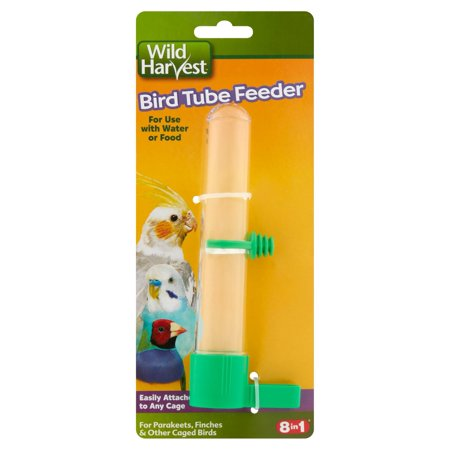 (3 Pack) Wild Harvest Bird Tube Feeder for Water or Food, 1-Count