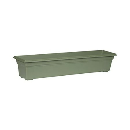 Novelty Countryside Flower Box, 30 Inch, Sage Countryside Flower Box Planter