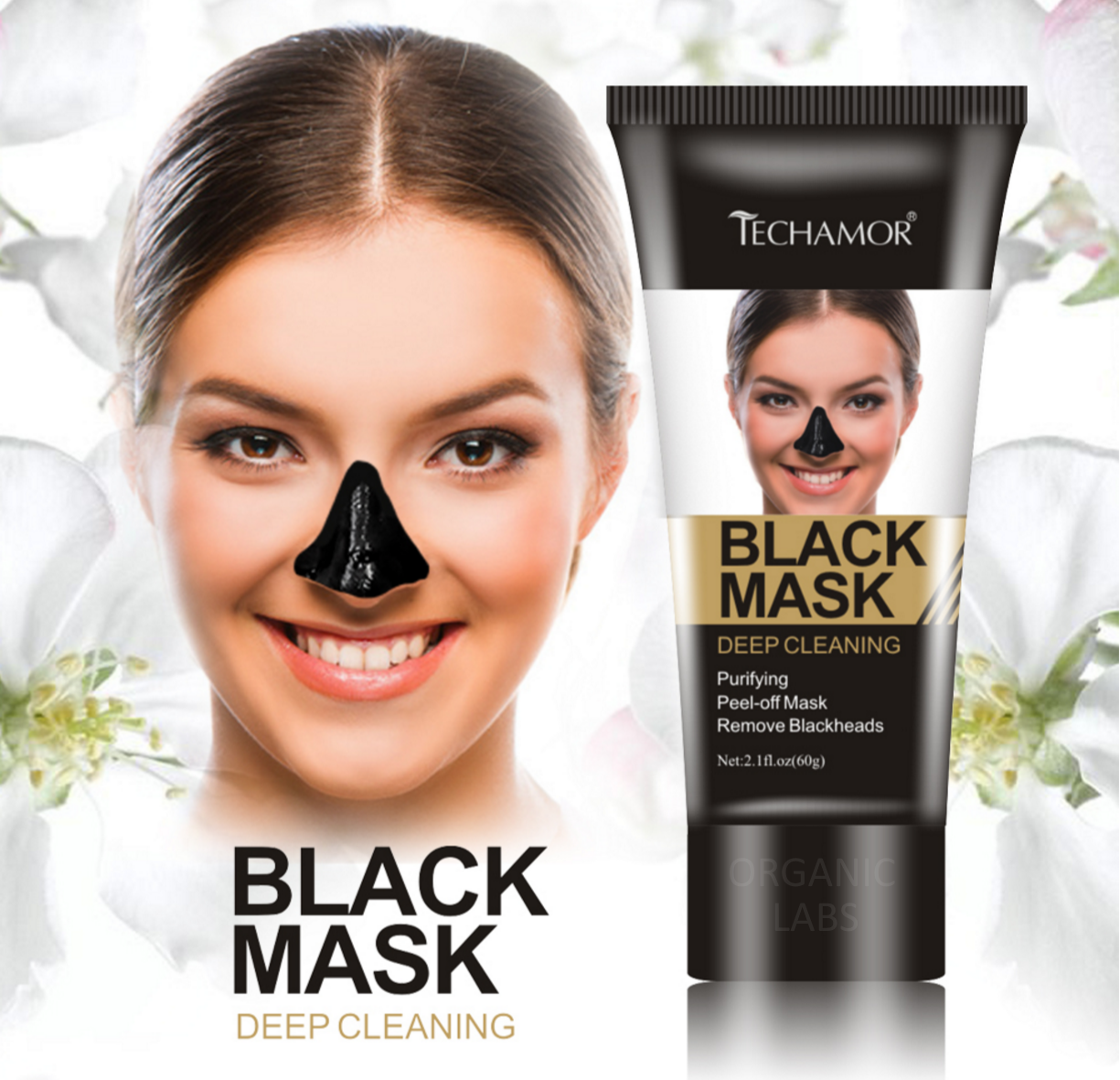 BLACK MASK - BLACKHEAD REMOVER - ACNE BLEMISH REMOVER BAMBOO CHARCOAL FACIAL MASK