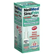 4 Pack Neilmed Sinufrin Plus Decongestant Moisturizing Gel, .5 Fluid Ounce Each