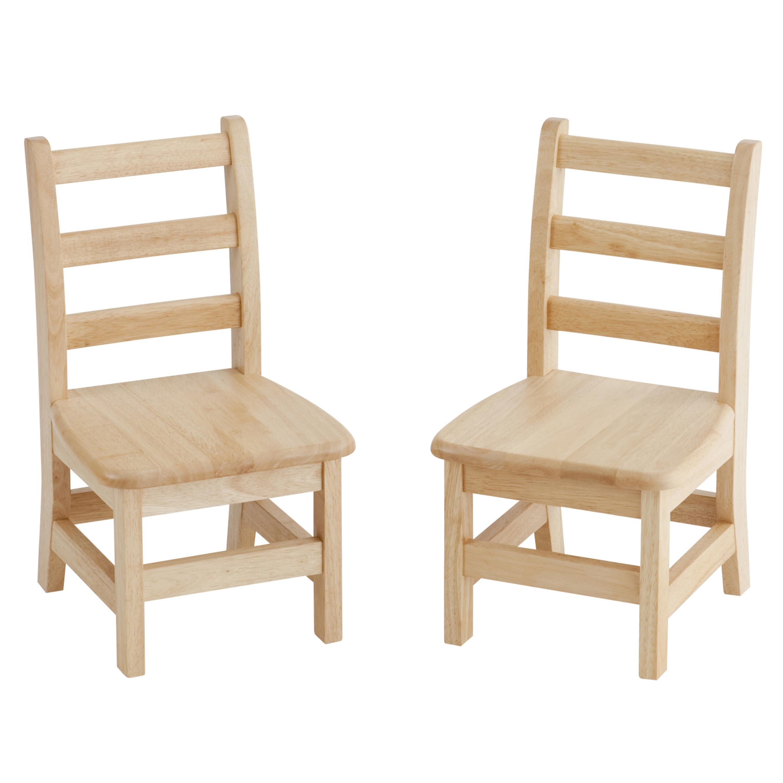 12in Three Rung Ladderback Chair - Assembled