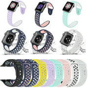 Replacement Silicone Sport Band Strap 38mm, 40mm, 42mm, or 44mm For Nike+Apple Watch 1234 iWatch