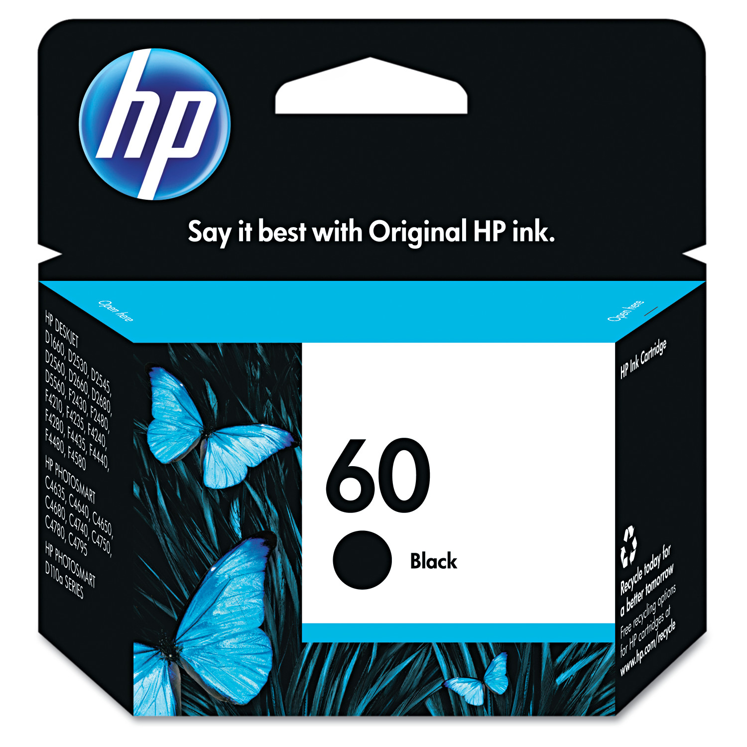 HP 60, (CC640WN) Black Original Ink Cartridge