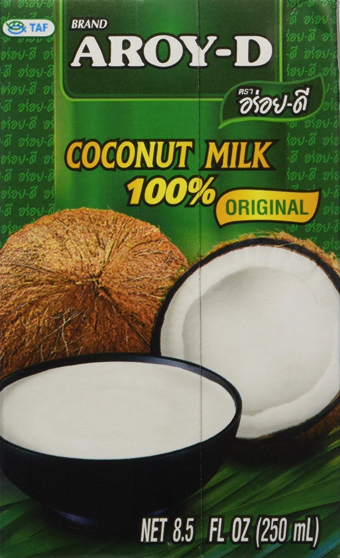 Aroy-D Coconut Milk 8.5oz Fluid Ounce (Pack of 6) by