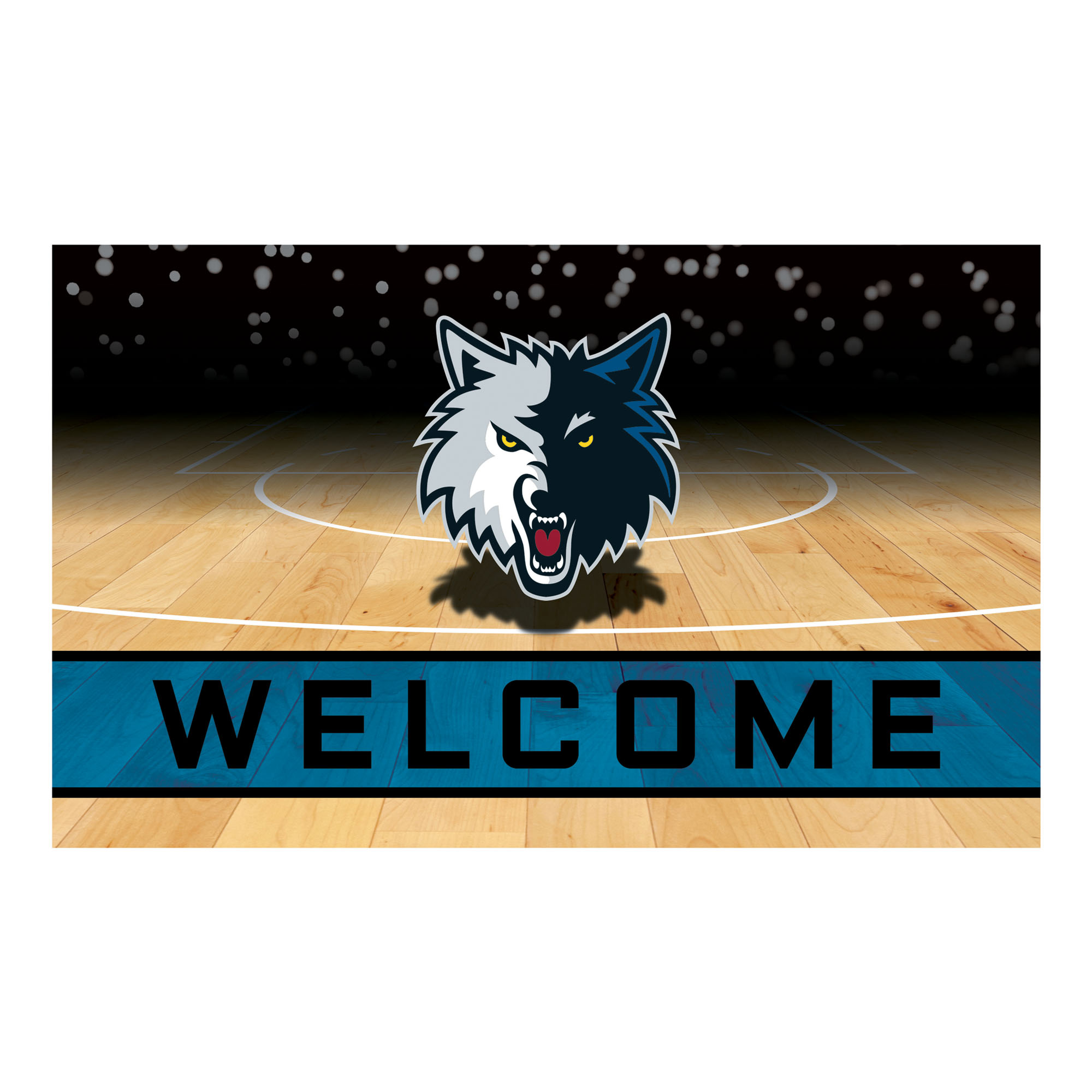 NBA Minnesota Timberwolves Heavy Duty Crumb Rubber Door Mat
