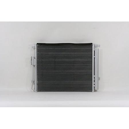 A-C Condenser - Pacific Best Inc For/Fit 4229 13-17 Hyundai Santa Fe Sport 2.0L 5mm w/Receiver &