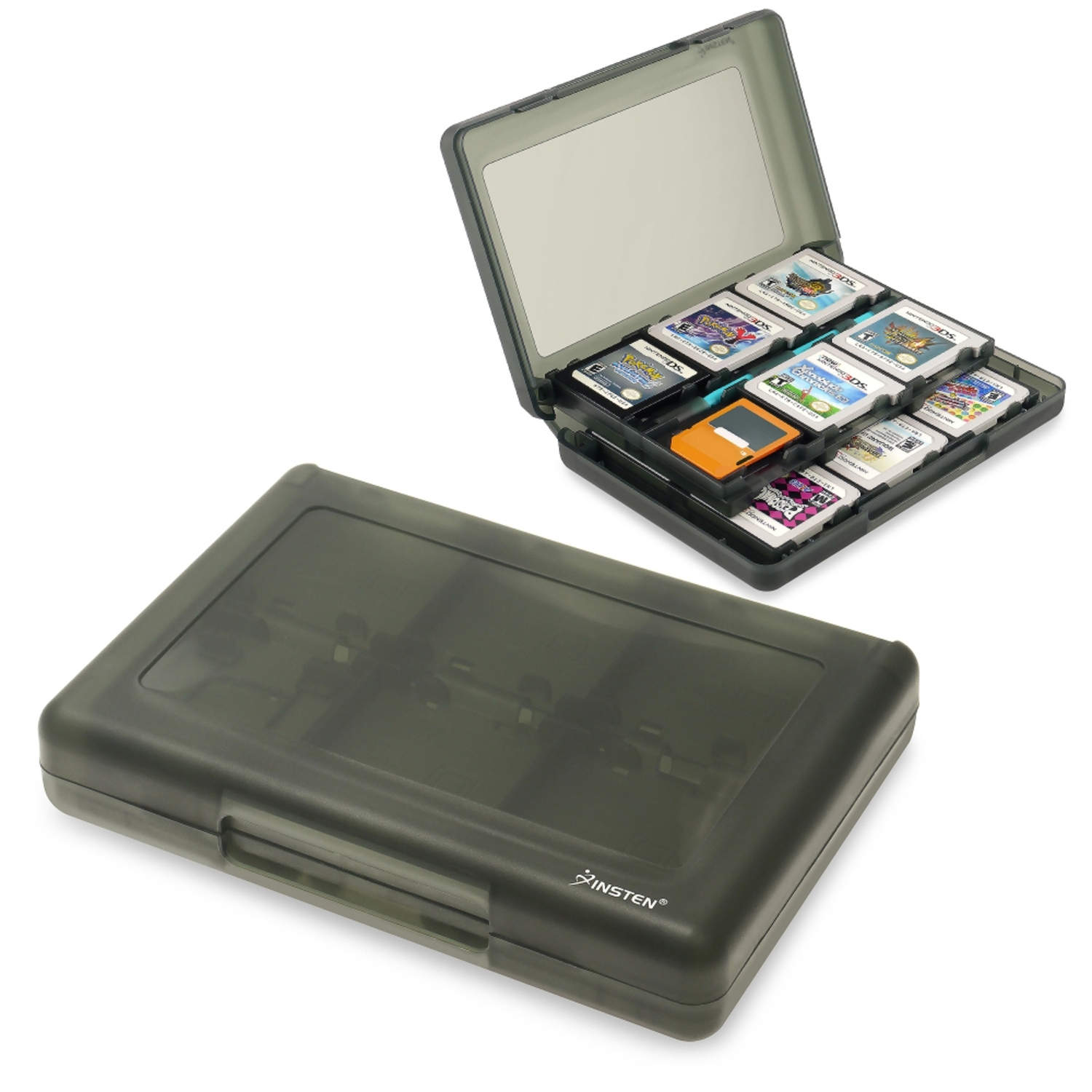 Insten 24-in-1 Game Card Case For Nintendo 3DS / 3DS XL LL, Smoke