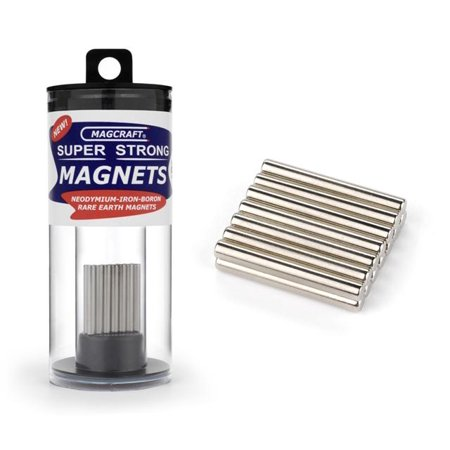 "1/8""x1"" Rare Earth Rod Magnets (14) (D)"