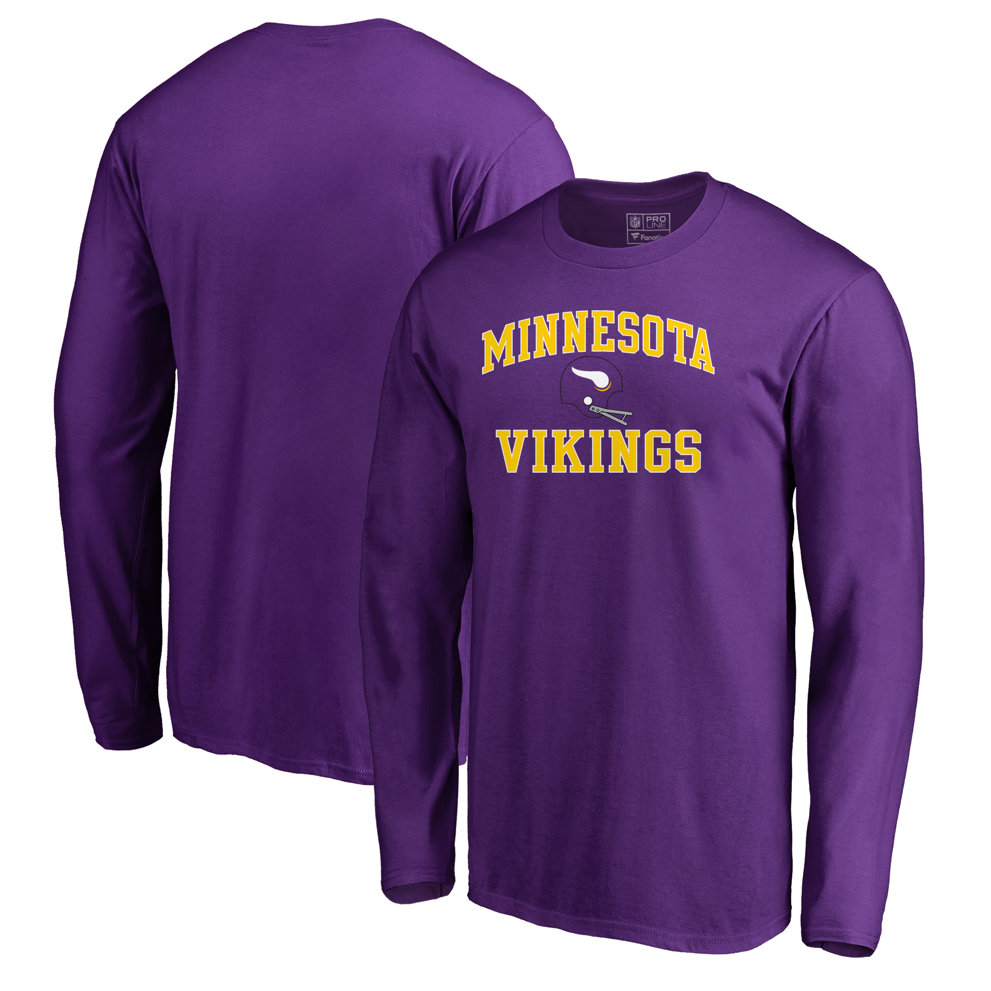 Minnesota Vikings NFL Pro Line by Fanatics Branded Vintage Collection Victory Arch Long Sleeve T-Shirt - Purple
