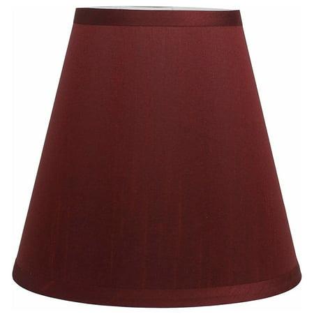 Urbanest Hardback Silk Empire Lamp Shade 5-inch by 9-inch by 8.5-inch, Burgundy (Silk Shimmer Shade)