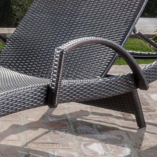 Brayden Studio Caddell Adjustable Chaise Lounge