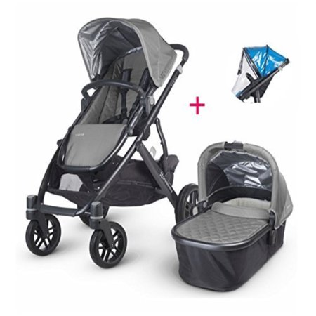 2017 Uppababy Vista Pascal Stroller With Bassinet Rain Cover