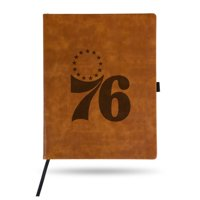 Philadelphia 76ers Sparo Laser Engraved Large Notepad - Brown