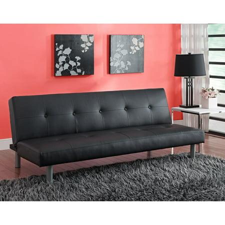 DHP Nola Tufted Faux Leather Futon, Multiple Colors ()
