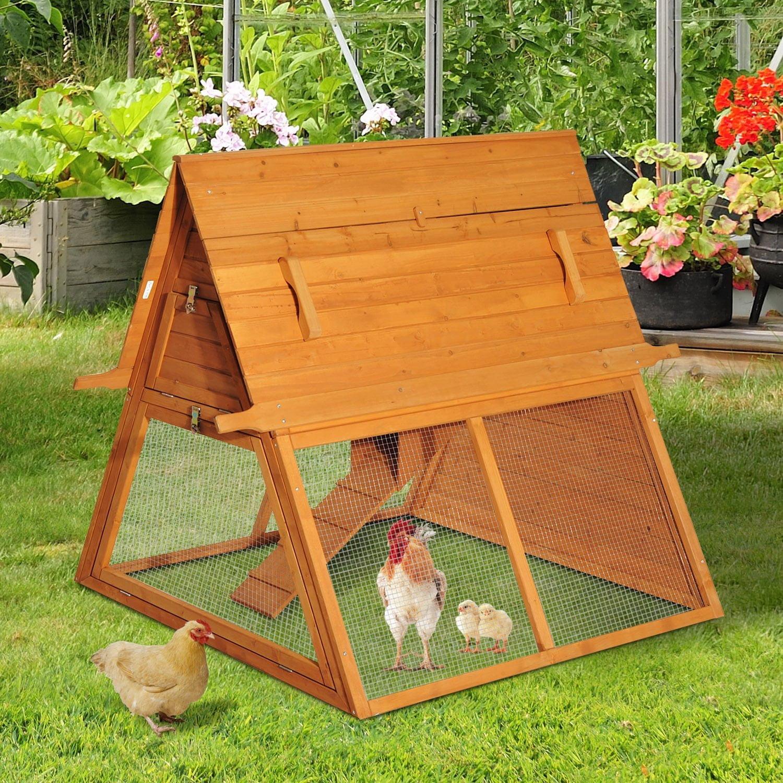 New MTN-G Triangle A-Frame Wooden Chicken Coop Rabbit Hut...