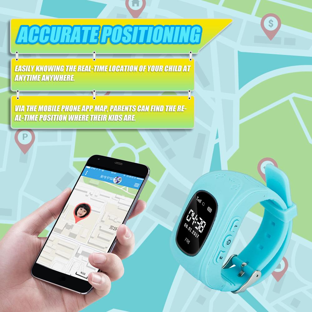 0 96inch OLED Screen Kids Smart Watch Phone for Girls Boys Children Gifts  GPS Tracker Locator Smartwatch