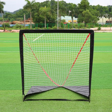 AngelCity Outdoor Portable Lacrosse Goal Pop Up Lax Net for Backyard Shooting, Outdoor/Indoor Pro Steel Hockey Goal 4*4