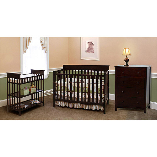 Child of Mine by Carter's Woodhaven Fixed Side Crib, Chocolate