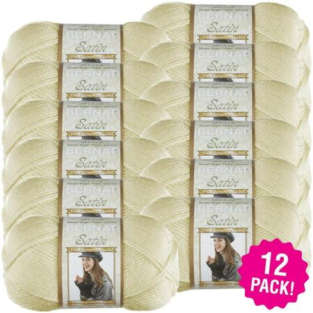 - Bernat Satin Solid Yarn - Silk, Multipack of 12