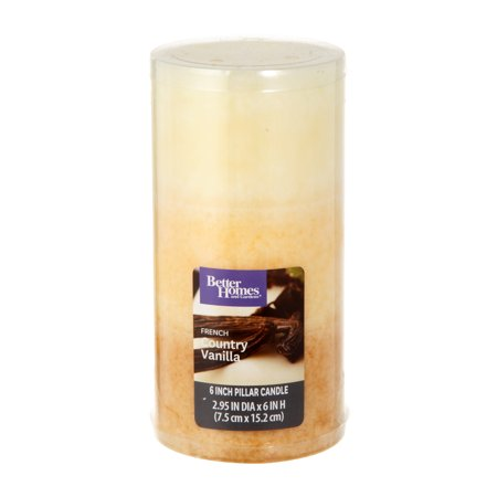 Better Homes And Gardens 6 Pillar Candle French Country Vanilla