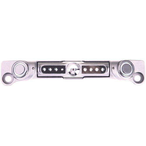 Power Acoustik LP-3CSC License Plate with 2 Backup Sensors and CCD Camera, Chrome