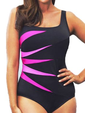 567c6248a5a Product Image Plus Size Womens Padded Push-up Swimsuit Monokini Bikini  Swimwear Beach Tankini