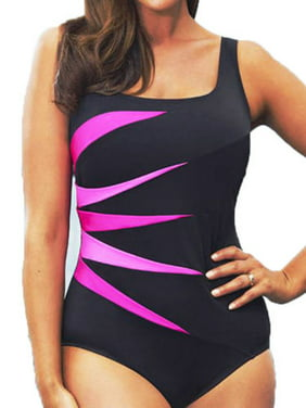 a7d1253dd1741 Product Image Plus Size Womens Padded Push-up Swimsuit Monokini Bikini  Swimwear Beach Tankini