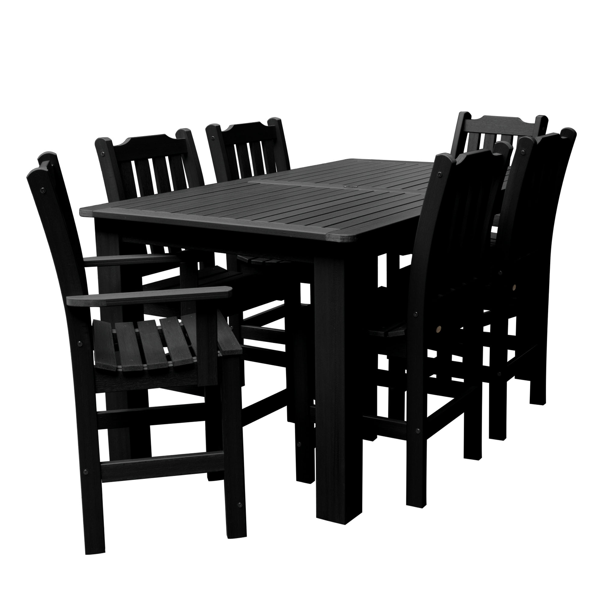 "highwood® Lehigh 7pc Rectangular Counter Height Dining Set 72"" x 42"""