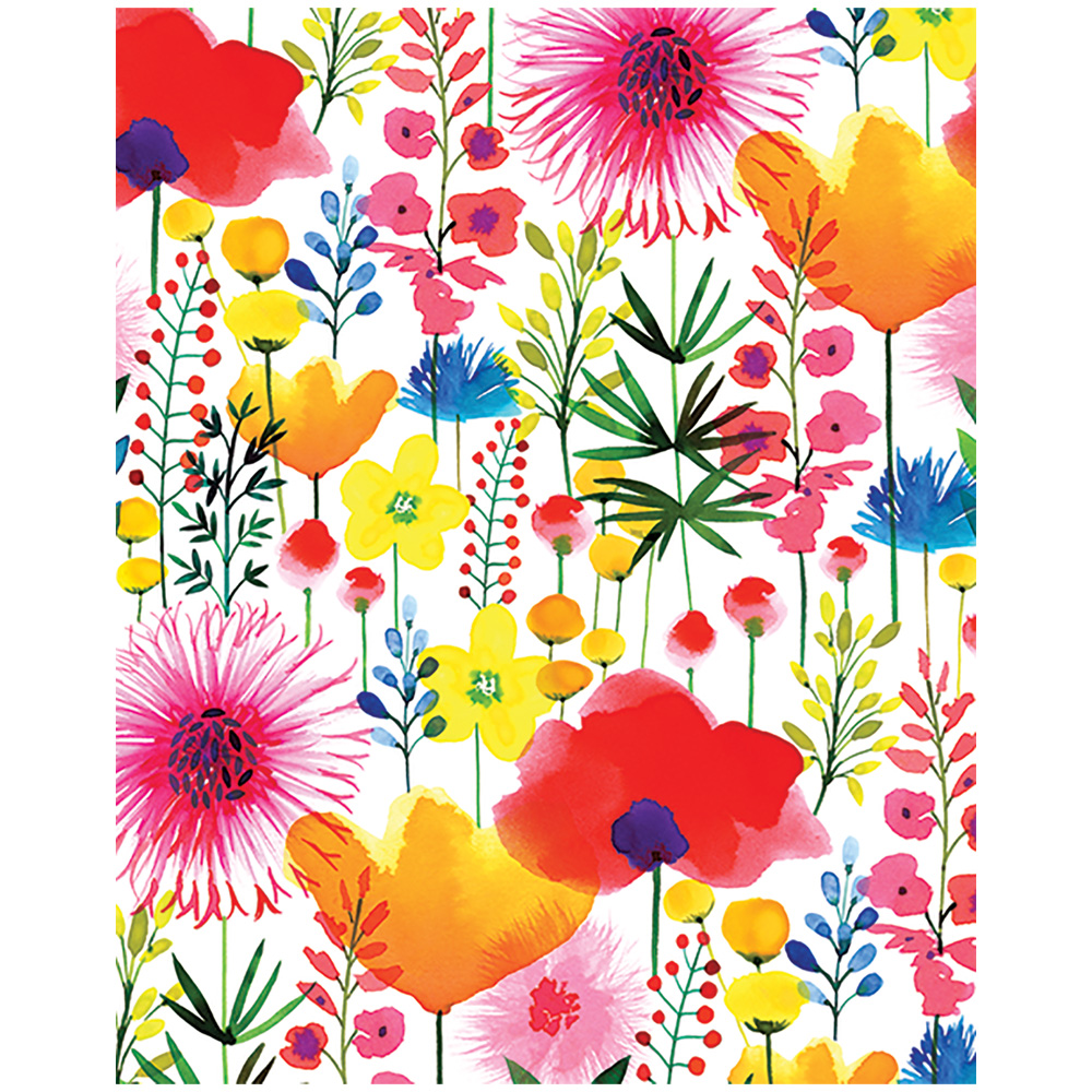 JAM Paper Design Tissue Paper, Watercolor Wildflowers, 3 Packs of 4 Sheets