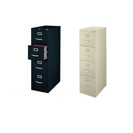 2500 Series 2 Piece Value Pack 4 Drawer Filing Cabinet in Black and Putty