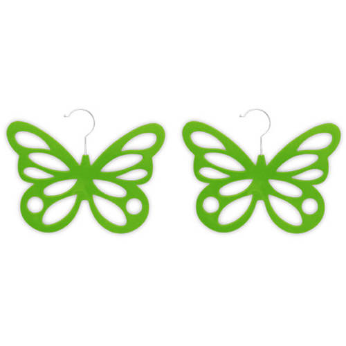 2-Pack Butterfly Scarf Hanger, Green