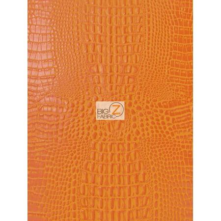 Aquaguard® Crocodile Marine Vinyl Fabric - Auto/Boat - Upholstery Fabric / Crush Orange / Sold By The (Orange Upholstery)