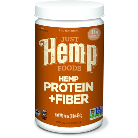 Just Hemp Foods Hemp Protein & Fiber Powder, Unflavored, 11g Protein, 1.0lb, 16.0oz