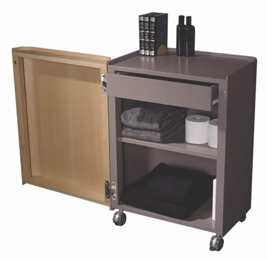 Aeri Wood Storage Cart