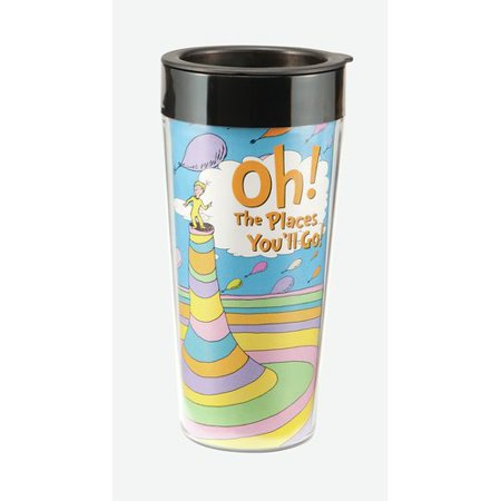 Vandor LLC Dr. Seuss Oh! The Places You'll Go! 16 Oz. Plastic Travel Mug