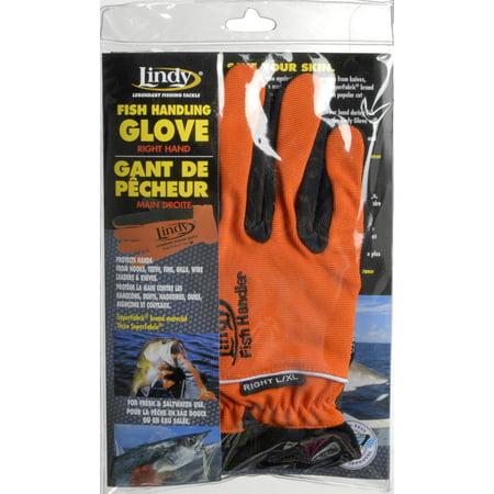 Lindy fish handling glove rh large ac951 for Fishing gloves walmart