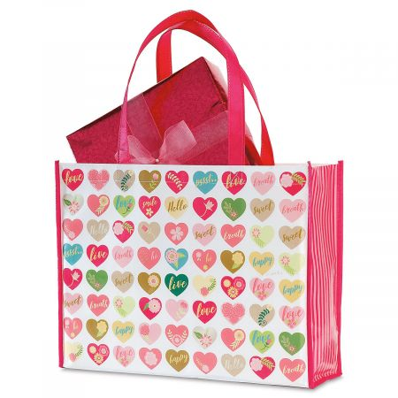Valentine Shopping Bag - Reuseable Valentine's Day Gift Bags