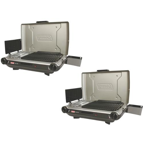 2 COLEMAN Portable Camping 2-Burner PerfectFlow Instastart Propane Grill/Stoves