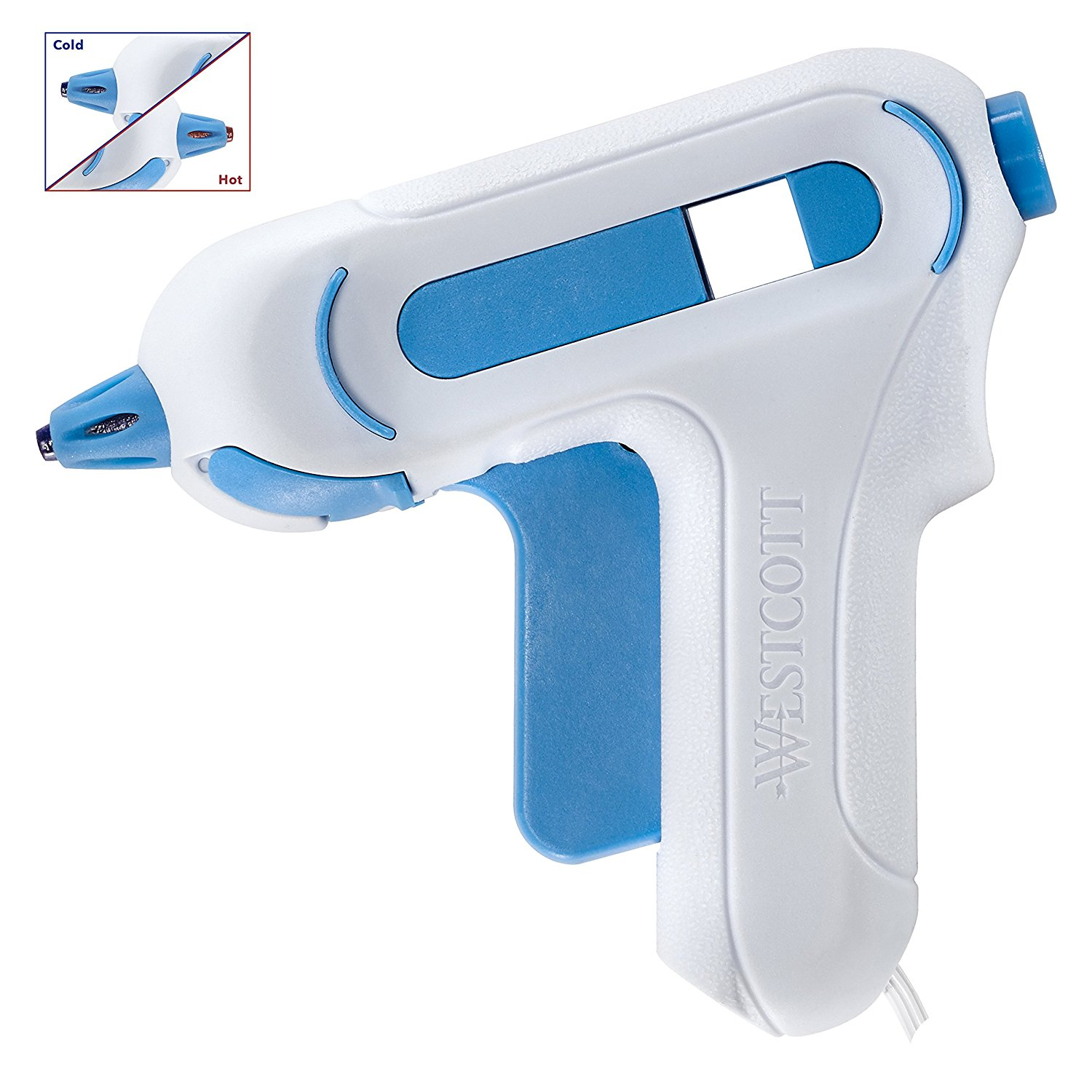 Westcott Premium Mini Hot Glue Gun, Low Temp