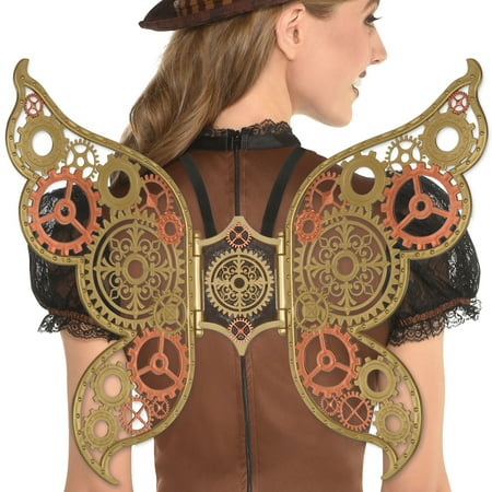 Fly Costume Wings (Amscan Steampunk Wings Halloween Costume Accessories for Women, One)