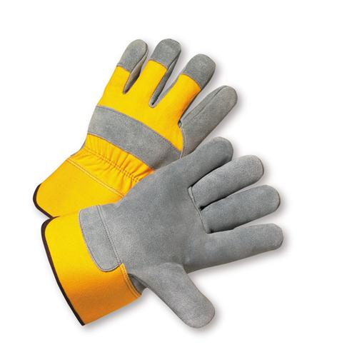 Small Premium Split Cowhide Palm Rubberized Cuff Gloves Dozen