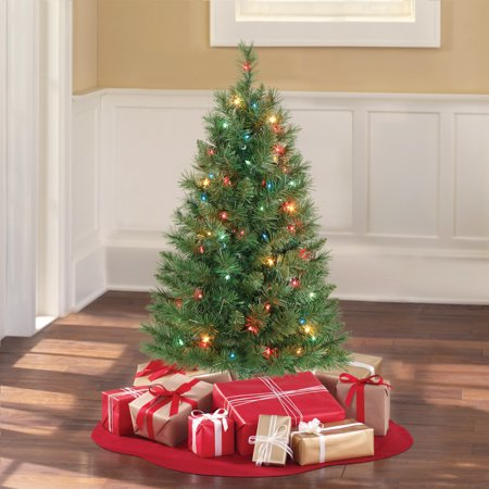 Holiday Time 3' Pre Lit Multi Color Winston Pine Christmas Tree  - Multi Colored Christmas Trees