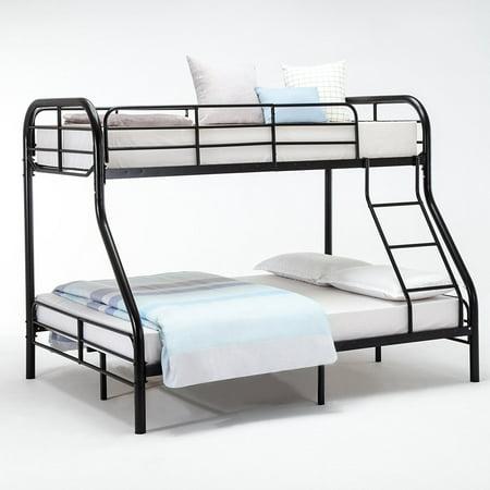kids black bedroom furniture. Uenjoy Metal Twin Over Full Bunk Beds Ladder Kids Teens Adult Dorm Bedroom  Furniture,Black Kids Black Bedroom Furniture