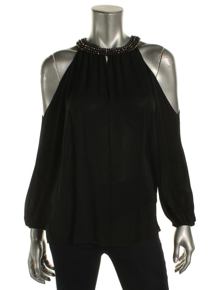 2d794f6617527 Kobi Halperin - Kobi Halperin Womens Valarie Silk Embellished Blouse -  Walmart.com