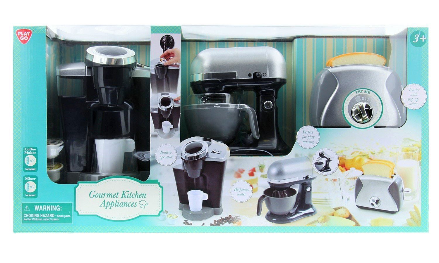 PlayGo Pretend Play Gourmet Kitchen Appliance Set - Single Serve ...