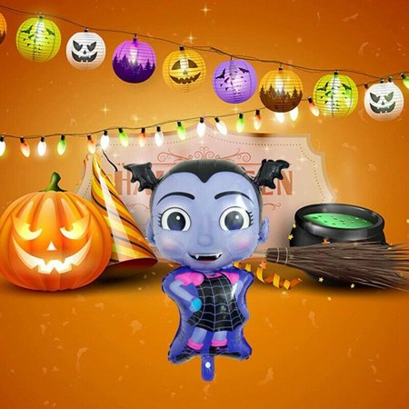Musica Halloween Film (Follure Halloween Vampire Girl Aluminum Film Birthday Party Halloween)